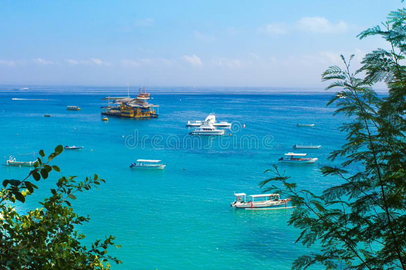 Bay in Nusa Lembongan. Beautiful bay in Nusa Lembongan, Indonesia stock images
