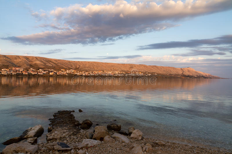 Download The bay of Pag stock photo. Image of mediterranean, beautiful - 28432756