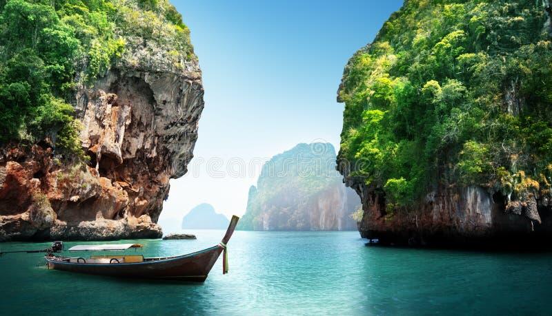 Bay at Phi phi island stock photo