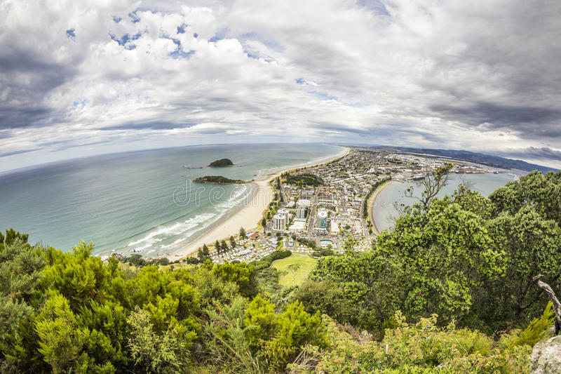 Bay Of Plenty view from Mount Maunganui. An image of Bay Of Plenty view from Mount Maunganui New Zealand royalty free stock photography