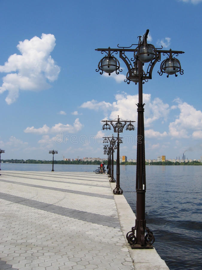 Bay river Dniepr. In Dniepropetrovsk,Ukraine royalty free stock image