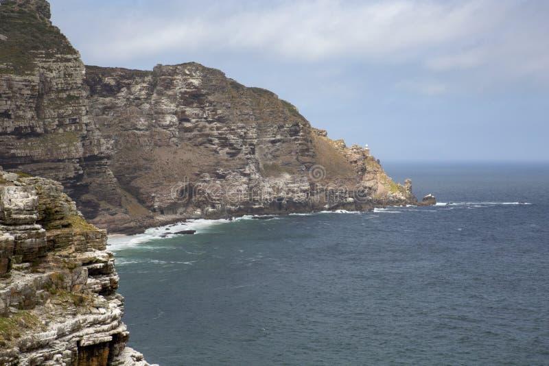 Bay rocky coast stock photo