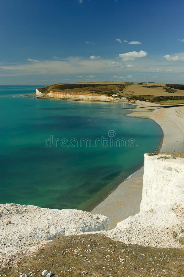 Download Bay at Seven Sisters stock image. Image of lighthouse - 17757967