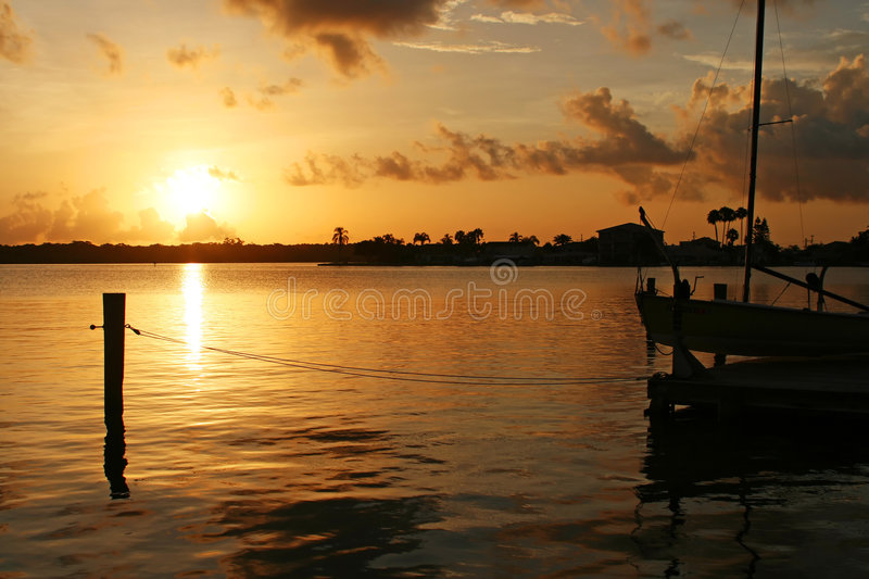Download Bay Sunrise stock image. Image of sailboat, pete, gulf - 4348415