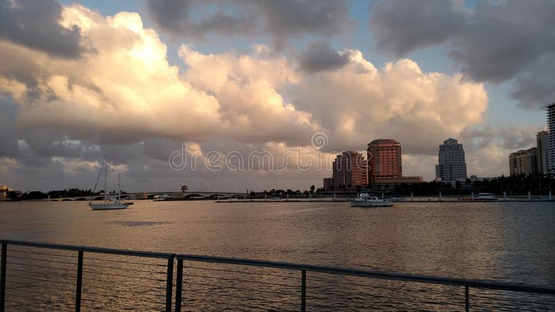 WPB Bay view royalty free stock image