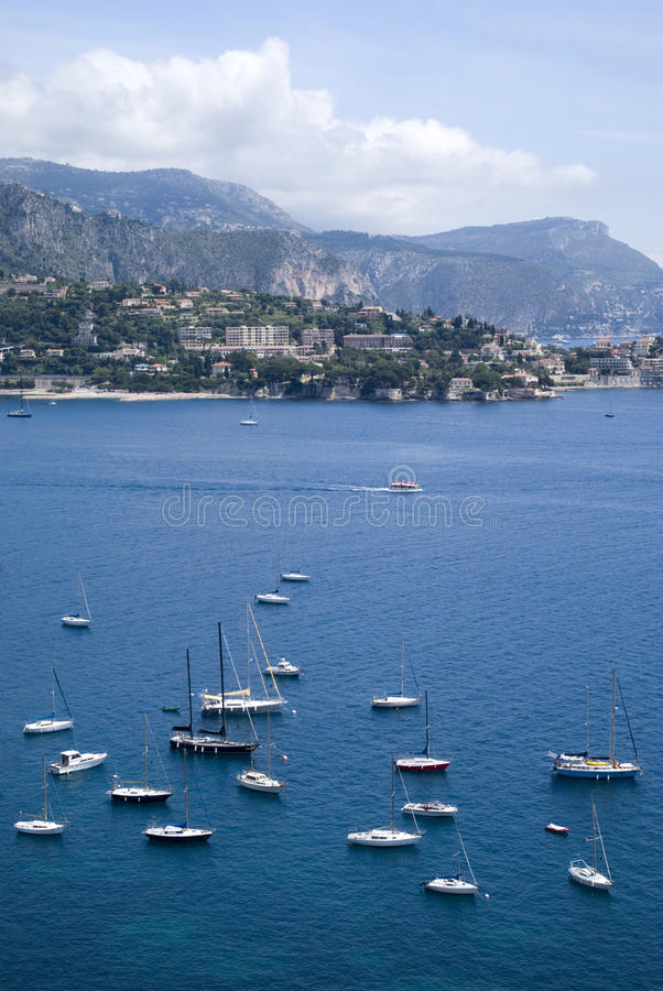 Download Bay of Villefranche stock photo. Image of panoramic, anchored - 31640812