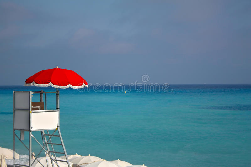 Bay watch and beautiful colors of the Azure royalty free stock photo