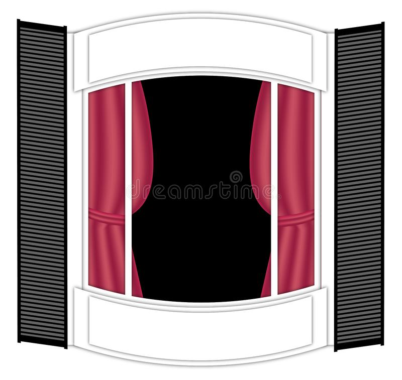Download Bay Window stock illustration. Illustration of glass, black - 8125518