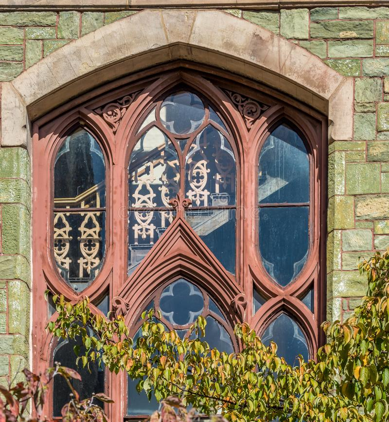 Bay window in the wall stock photography