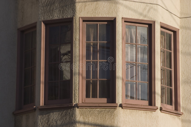 Bay Windows. Round out the view from a San Francisco apartment royalty free stock photography