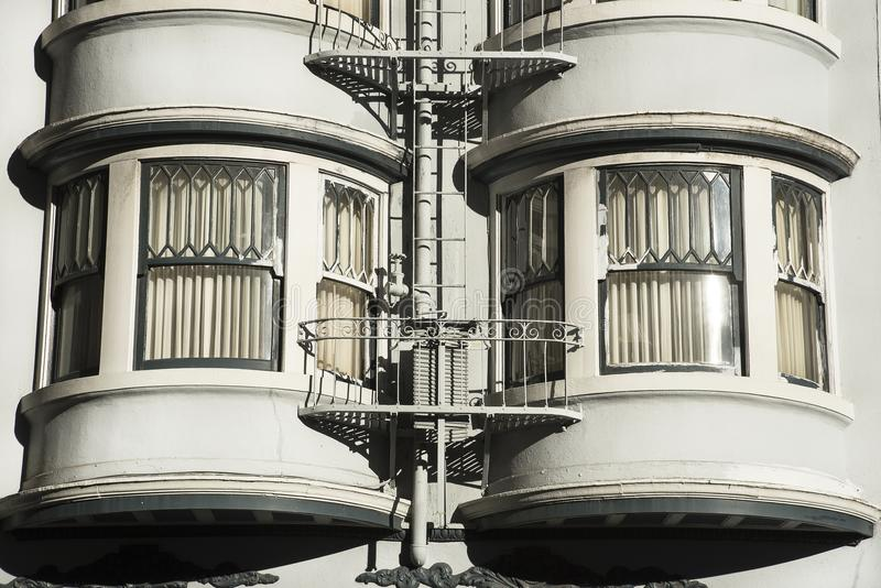 Bay windows apartment building san francisco city. Metropolitan area royalty free stock photography