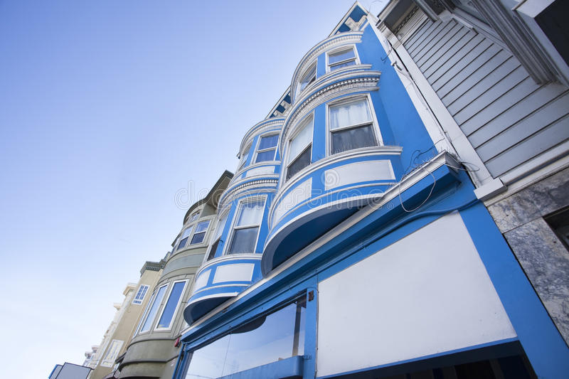 Bay Windows. Traditional San Francisco, California Victorian style bay windows stock images