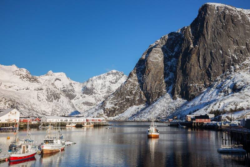 Bay in winter stock photos