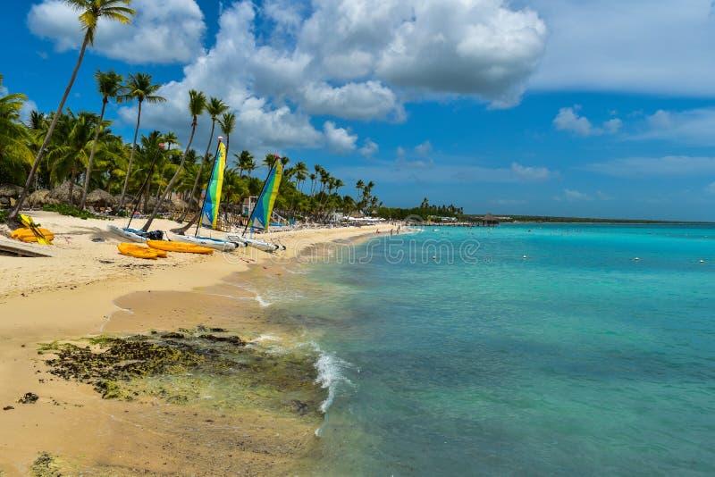 Bayahibe strand i Dominikanska republiken arkivfoton