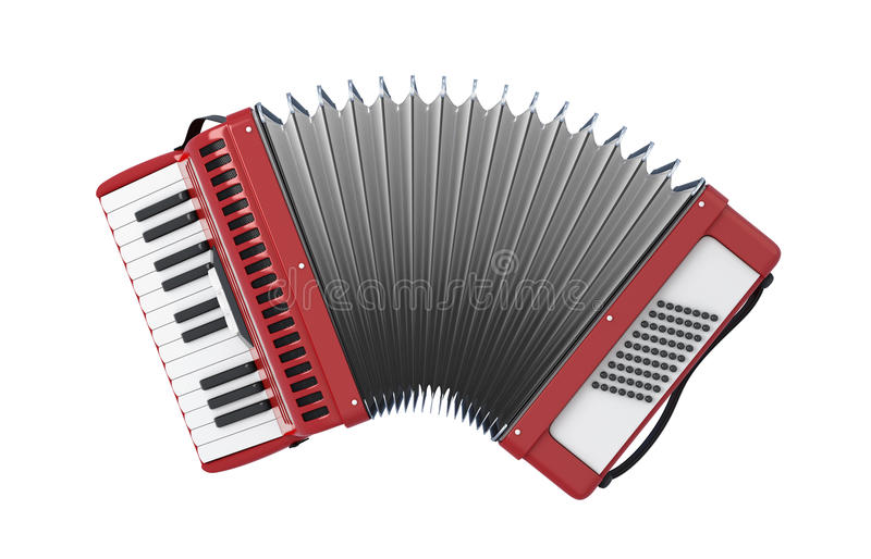 Bayan. Accordion. Bayan isolated on white background. 3d illustration vector illustration