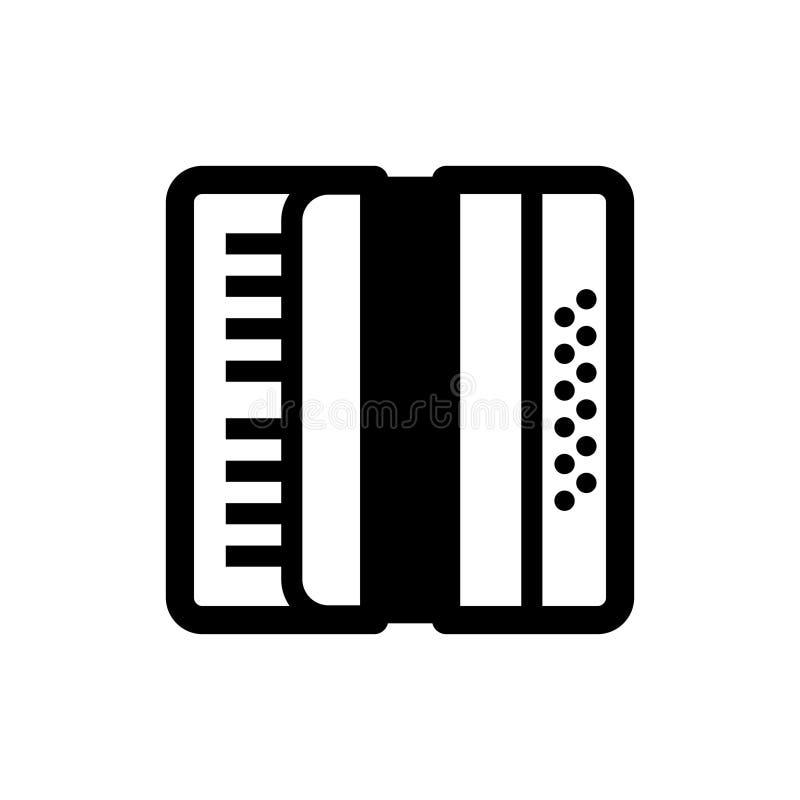 Bayan akordeon, Rosyjski chromatyczny guzika akordeon ilustracja wektor