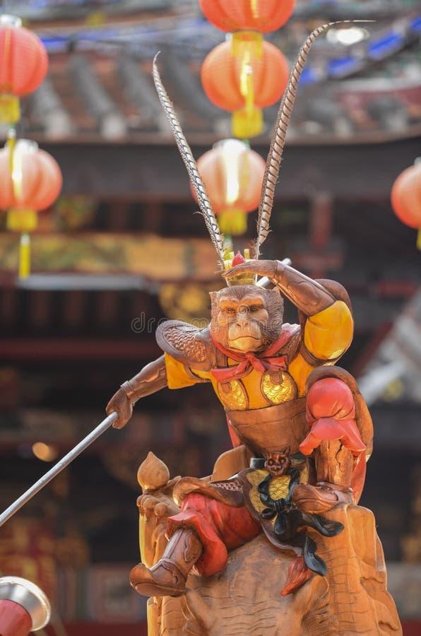 BAYAN BARU, †«2-ое февраля 2016 PENANG/MALAYSIA: Stat бога обезьяны стоковые изображения rf