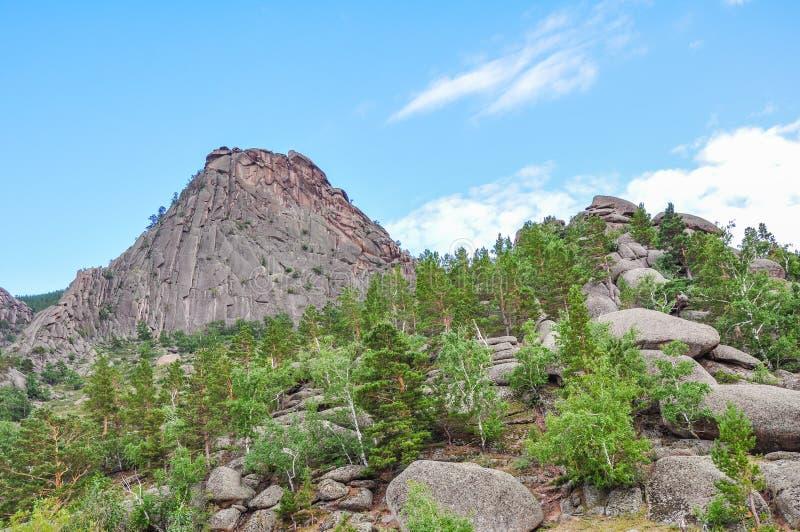 bayanaul bergen stock afbeelding