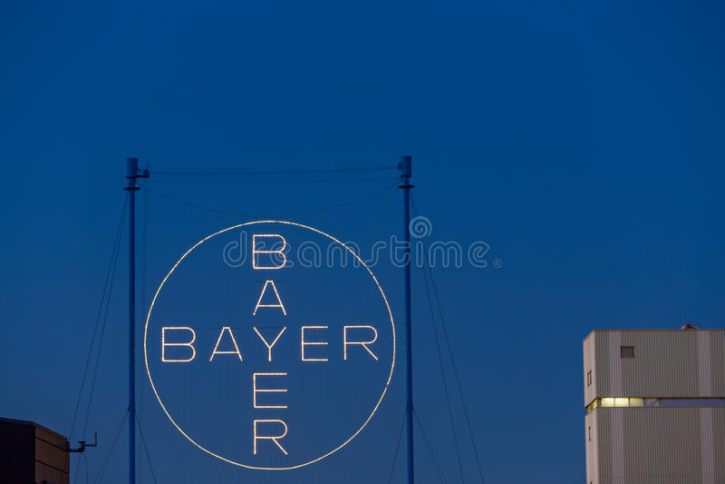 Bayer logo editorial photo  Image of highrise, brand - 58043301
