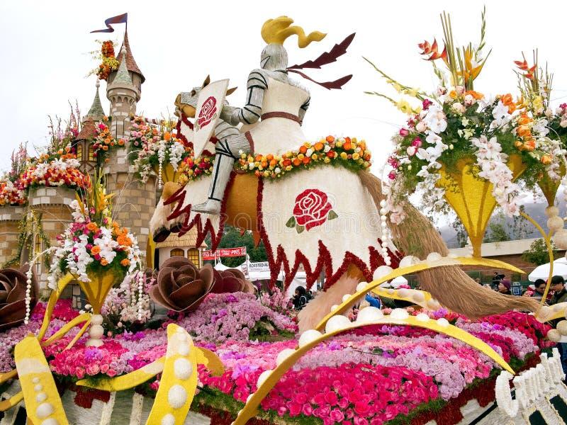 Bayer ha avanzato il galleggiante 2011 di Rose Parade fotografia stock libera da diritti