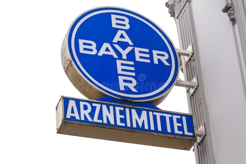 Bayer historique signent dedans le siegburg Allemagne images libres de droits