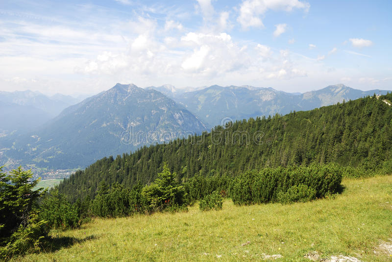 Bayerische Alpen lizenzfreies stockbild