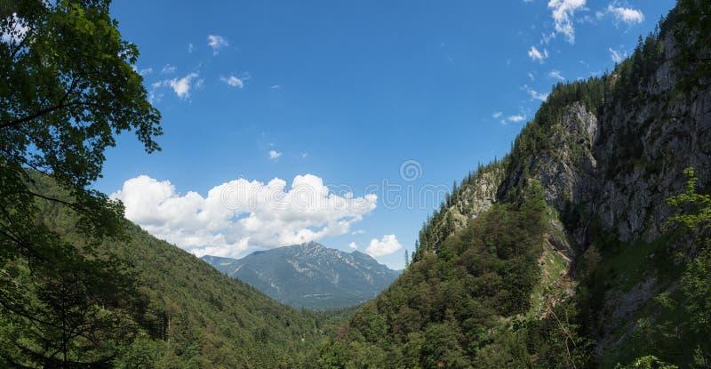 Bayerische Alpen, Deutschland stockbild