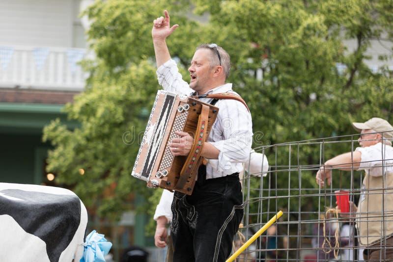 Bayerische Festival-Parade stockbild