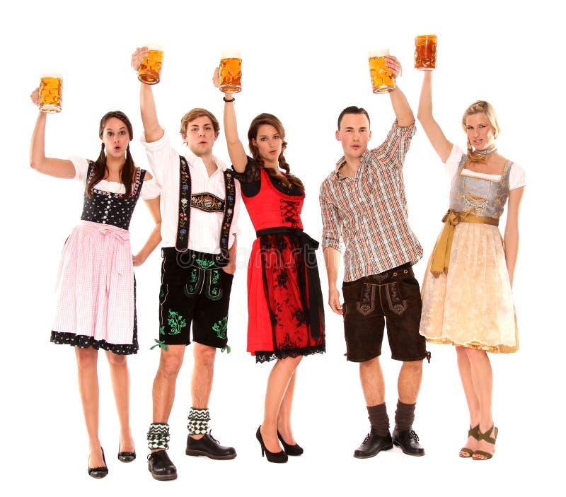 Bayerische Gruppe stockfoto