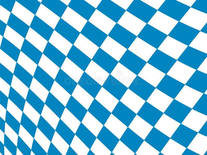 Bayerischer Flaggenmusterhintergrund Hintergrunddesign für Oktoberfest stock abbildung