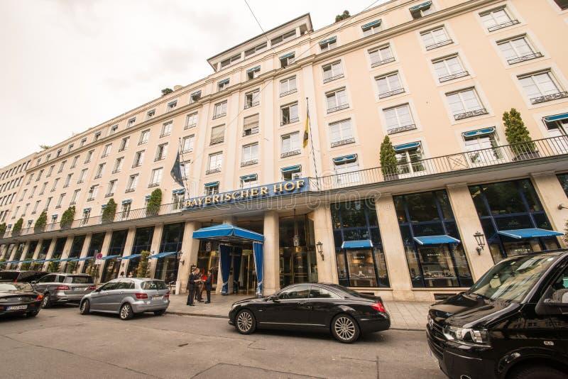 Bayerischer Hof. The famous Bayerischer Hof hotel in munich royalty free stock photo