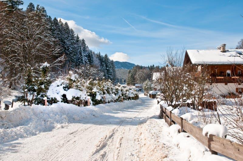 Bayerischer Winter stockbilder