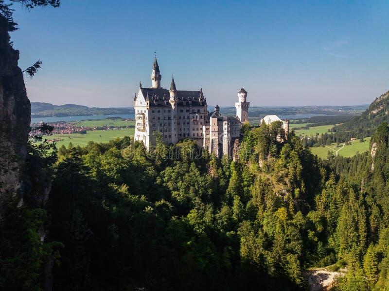 Bayern Deutschland Schloss Neuschwanstein lizenzfreie stockbilder