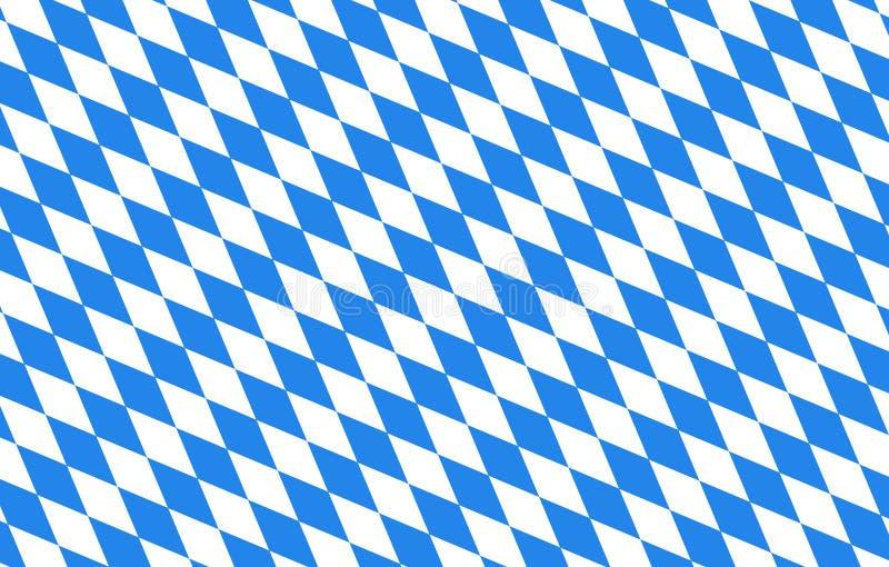 Bayern diamonds blue background Oktoberfest royalty free stock image
