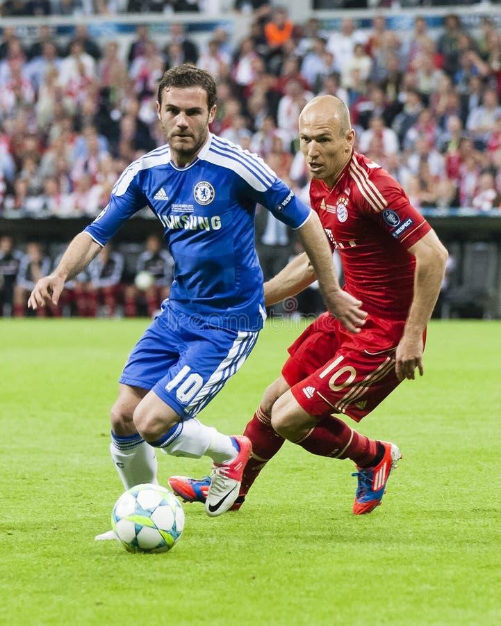 Bayern Munich vs. Chelsea FC UEFA CL Final stock photo