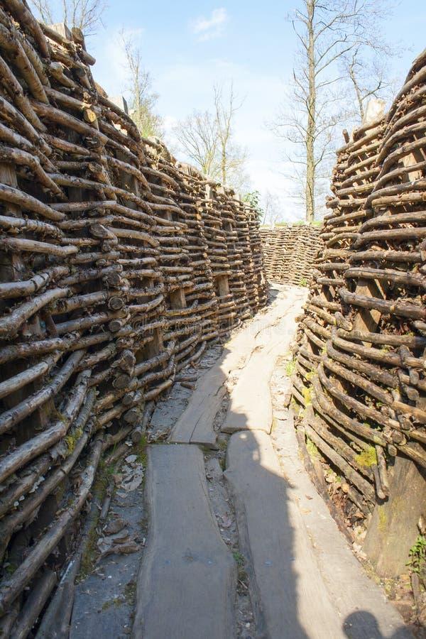 Bayernwald вскапывает Первая мировую войну Фландрию Бельгию стоковое фото
