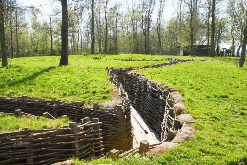 Bayernwald вскапывает Первая мировую войну Фландрию Бельгию стоковые фотографии rf