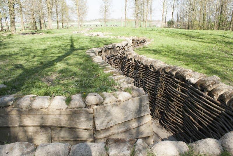 Bayernwald gräbt den Ersten Weltkrieg Flandern Belgien stockfotografie