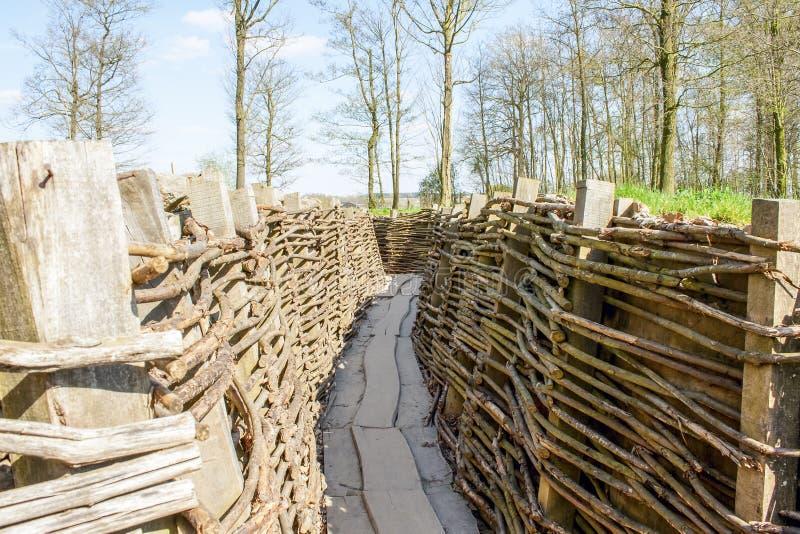 Bayernwald gräbt den Ersten Weltkrieg Flandern Belgien lizenzfreies stockfoto