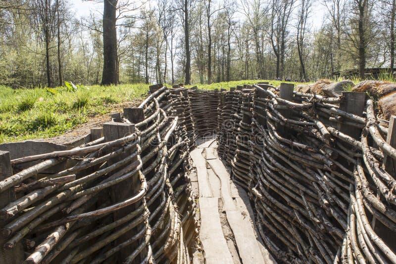 Bayernwald gräbt den Ersten Weltkrieg Flandern Belgien stockbilder