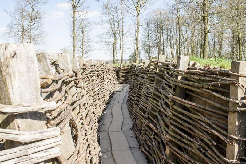 Bayernwald gräbt den Ersten Weltkrieg Flandern Belgien stockfotos