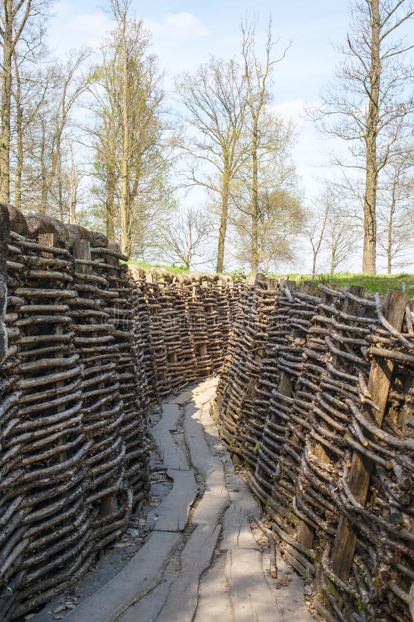 Bayernwald Trenches world war one flanders Belgium royalty free stock photo