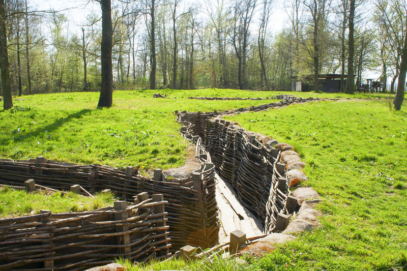 Bayernwald Trenches world war one flanders Belgium royalty free stock photos