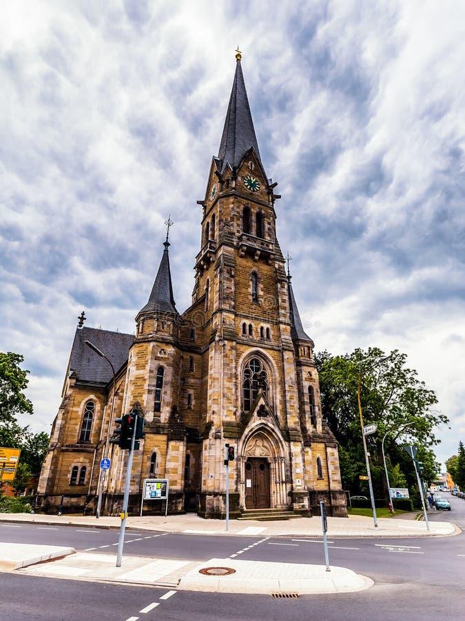 Bayersk stad av Forchheim i Franconia, Tyskland royaltyfri fotografi