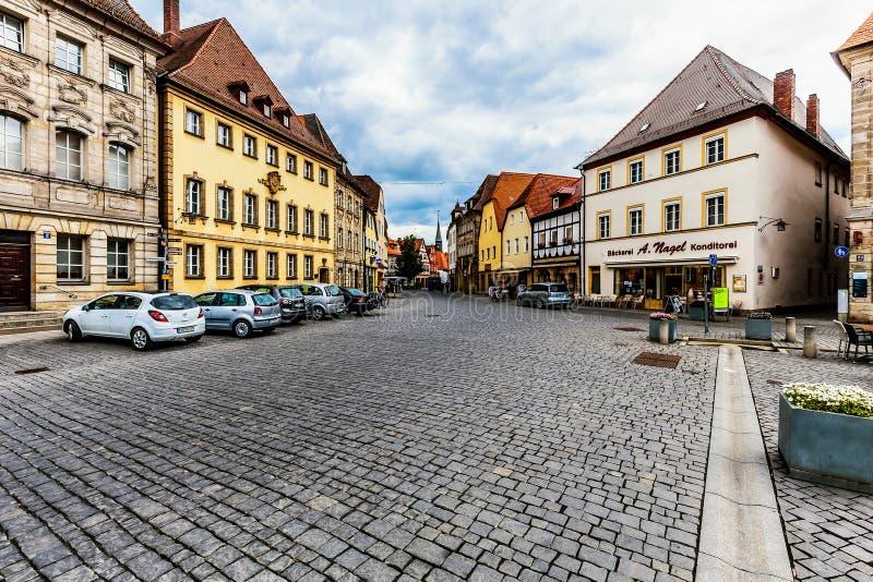 Bayersk stad av Forchheim i Franconia, Tyskland royaltyfria foton