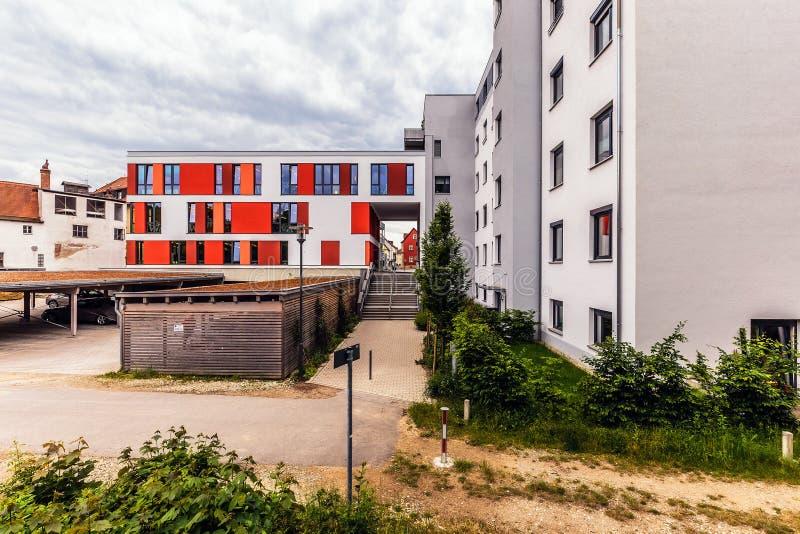 Bayersk stad av Forchheim i Franconia, Tyskland arkivfoton