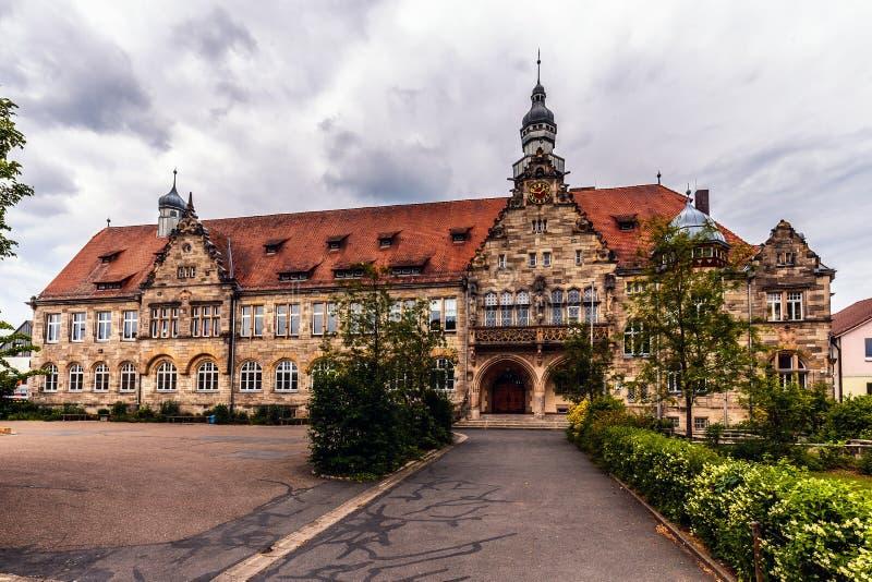 Bayersk stad av Forchheim i Franconia, Tyskland royaltyfri foto