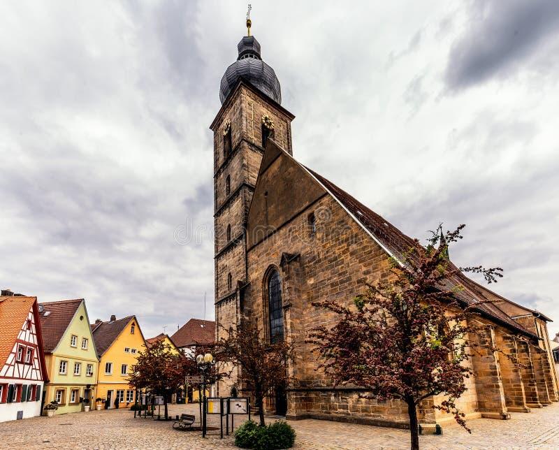 Bayersk stad av Forchheim i Franconia, Tyskland fotografering för bildbyråer