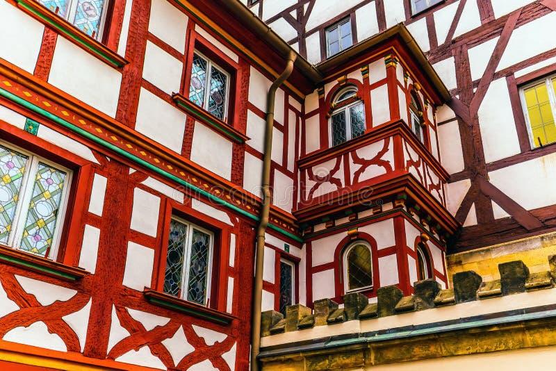 Bayersk stad av Forchheim i Franconia, Tyskland arkivbilder