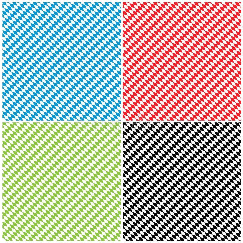 Bayerska Diamond Pattern Texture Background Set - romb royaltyfri illustrationer